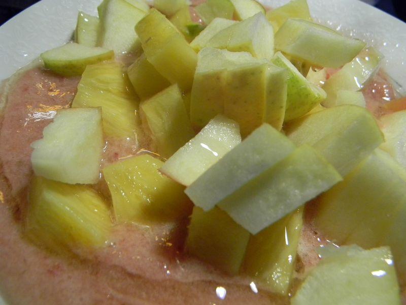 Frozen fruit soup